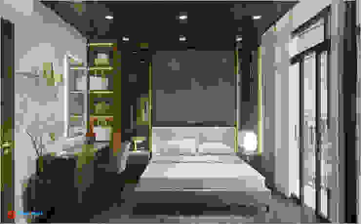 Công ty TNHH TK XD Song Phát ห้องนอนเตียงนอนและหัวเตียง ไหม White