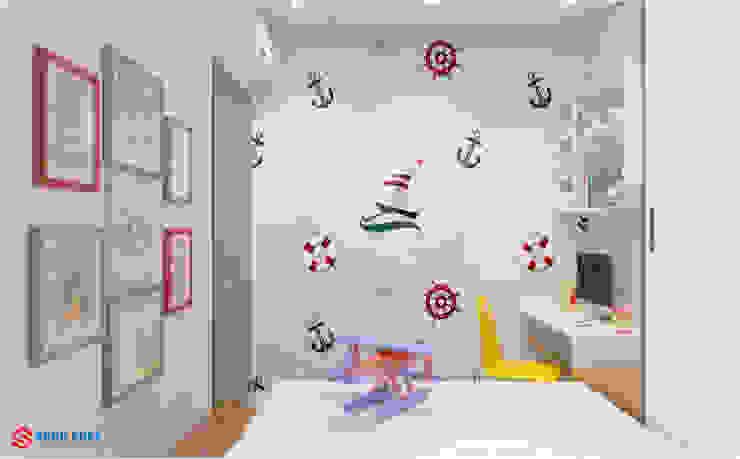 Công ty TNHH TK XD Song Phát Paredes y pisosDecoración de paredes Papel Blanco
