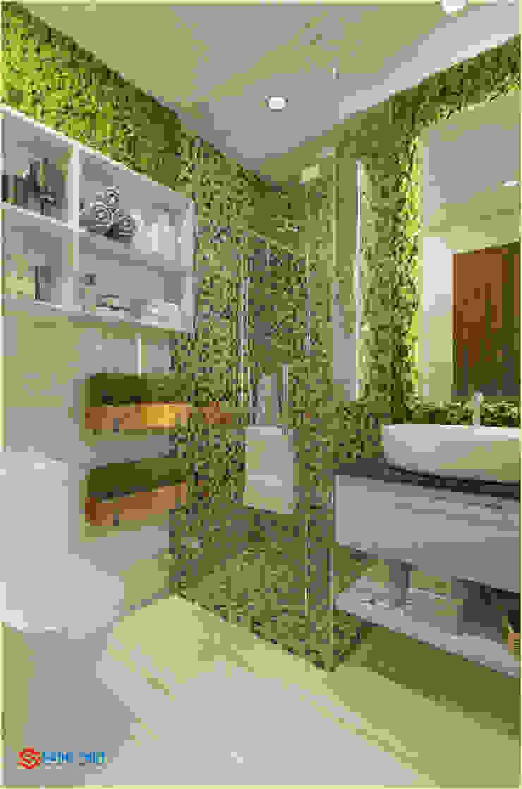 Công ty TNHH TK XD Song Phát ห้องน้ำกระจก แกรนิต White