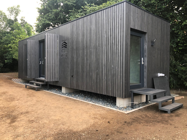 Fassade von WoodCube GmbH Modern Holz Holznachbildung