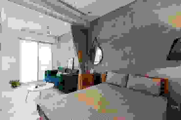 Phòng ngủ phong cách Bắc Âu bởi MSBT 幔室布緹 Bắc Âu Bê tông cốt thép