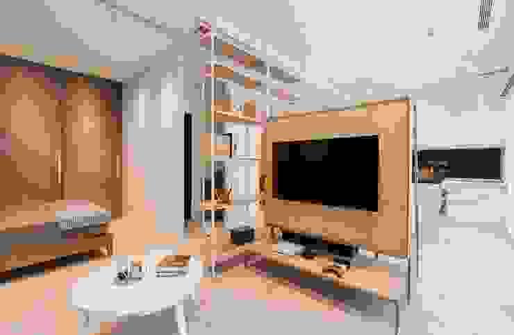 Phòng khách phong cách Bắc Âu bởi MSBT 幔室布緹 Bắc Âu Gỗ-nhựa composite