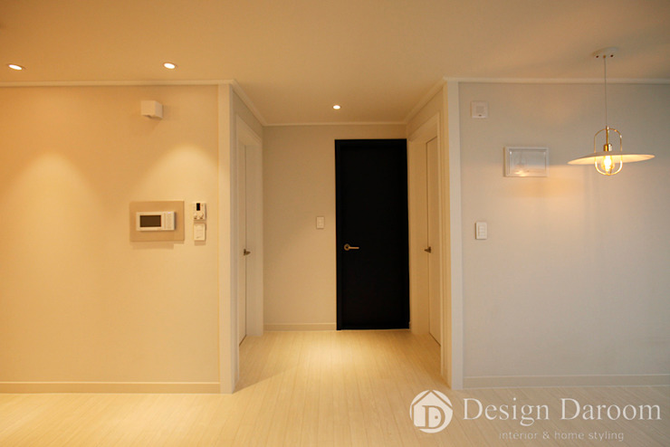 광장동 현대파크빌 25py 복도 모던스타일 복도, 현관 & 계단 by Design Daroom 디자인다룸 모던