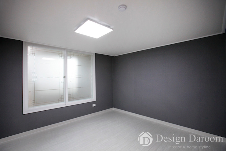 광장동 현대파크빌 25py 안방 모던스타일 침실 by Design Daroom 디자인다룸 모던