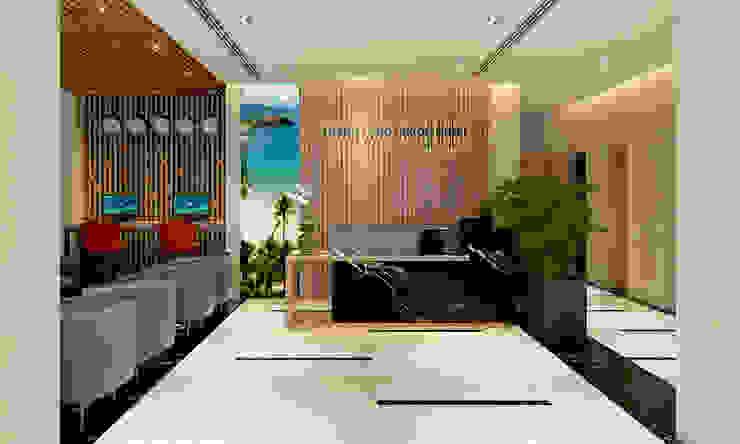 Гостиная в стиле модерн от thiết kế khách sạn hiện đại CEEB Модерн