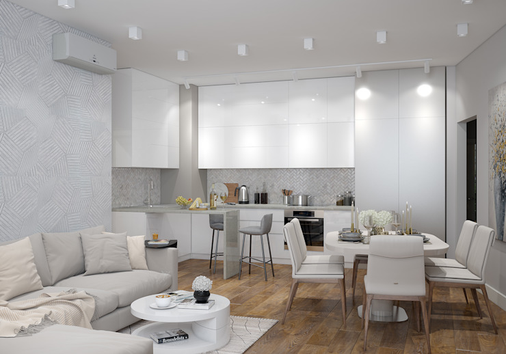 Built-in kitchens by «Студия 3.14», Minimalist