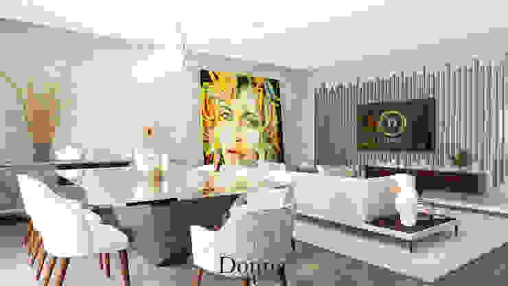 Sala Geral Salas de jantar modernas por Donna - Exclusividade e Design Moderno
