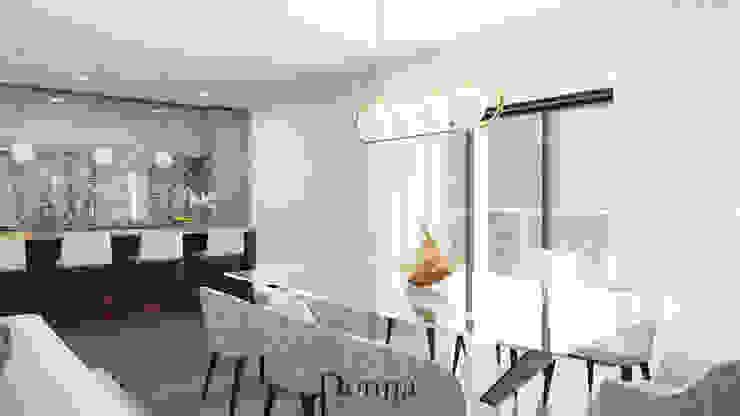 Sala de Jantar + Cozinha Salas de jantar modernas por Donna - Exclusividade e Design Moderno