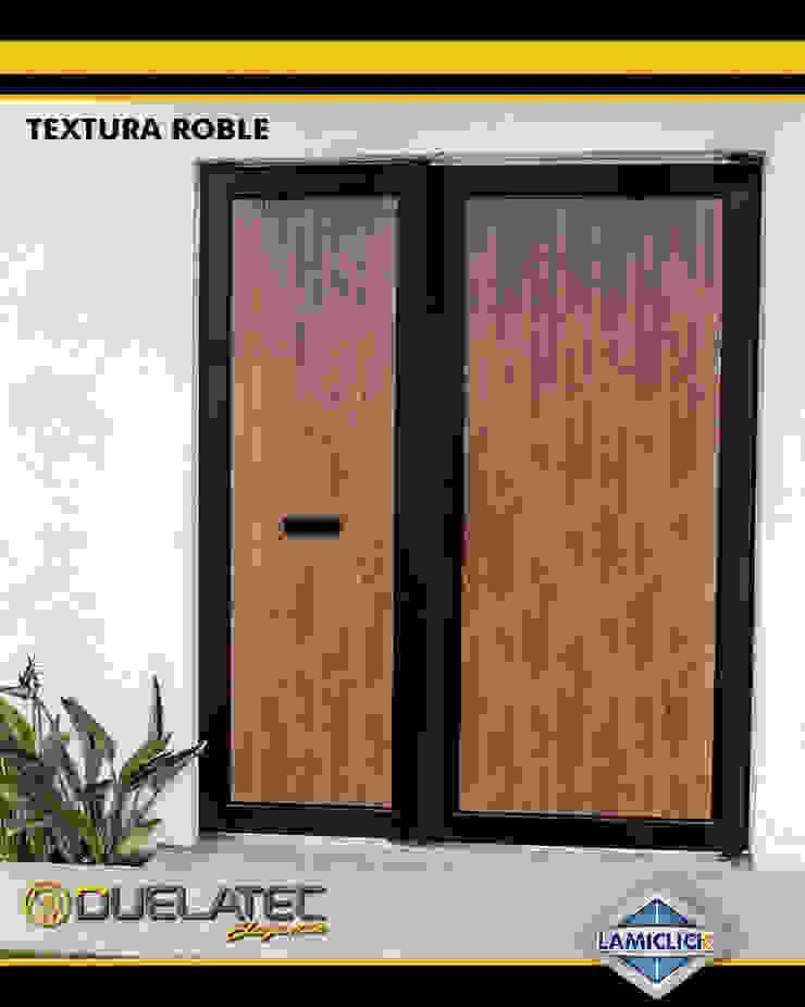 Lamitec SA de CV Wooden doors Iron/Steel Wood effect
