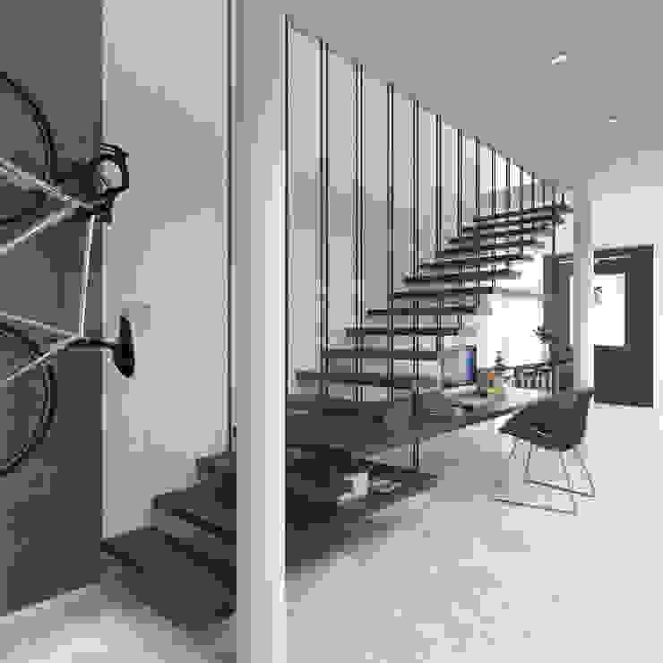 Escaleras multifuncionales. Juve 3D Studio Escaleras Madera Acabado en madera