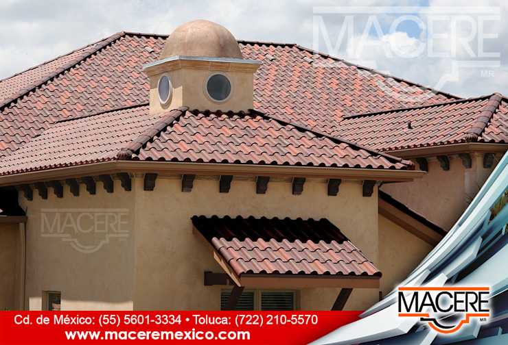 MACERE México Hipped roof Ceramic Red