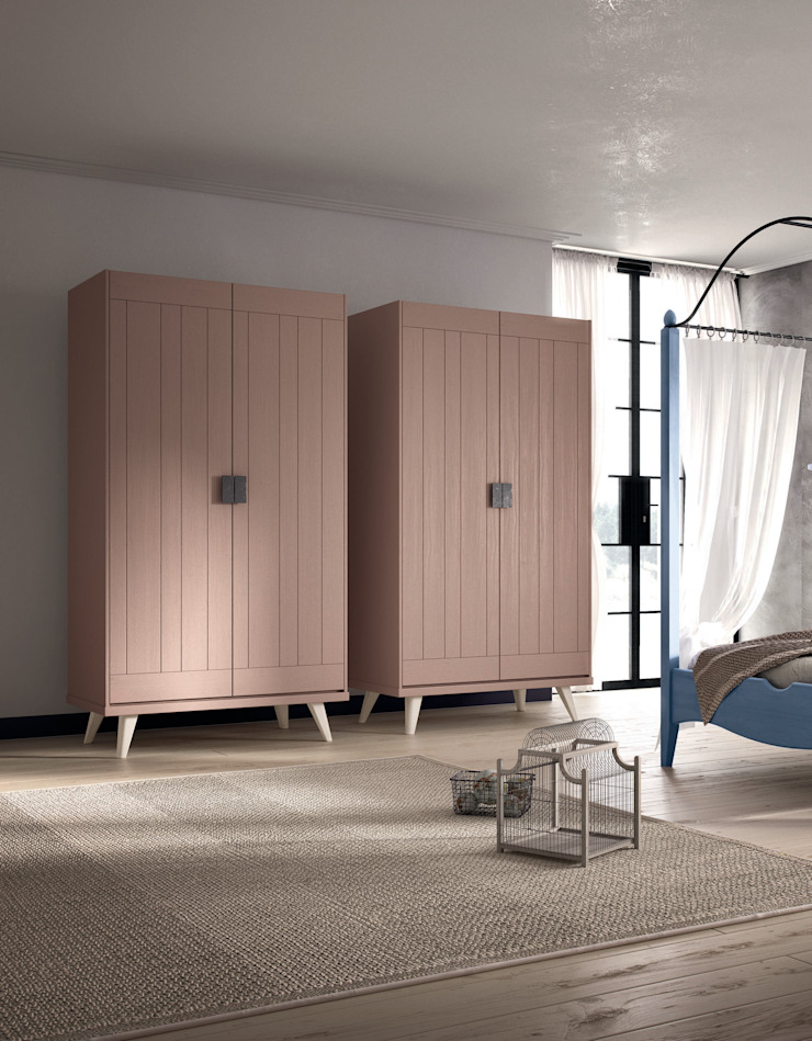 by Mobili a Colori Scandinavian Solid Wood Multicolored