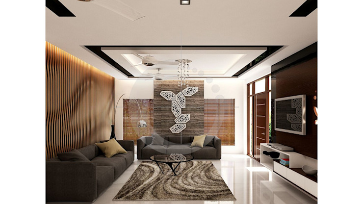 Vasantha Architects and Interior Designers:  tarz Oturma Odası,
