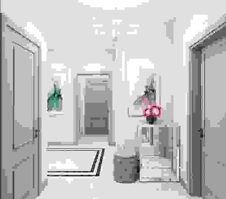Дизайн-проект 2 - комнатной квартиры в Ялте. Коридор, прихожая и лестница в классическом стиле от Дизайн студия 'Хороший интерьер' Классический