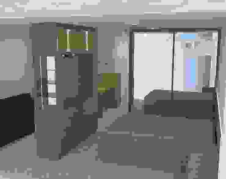 Loft com painei TV giratoria por moveis prisma & moveis bamberg Moderno MDF