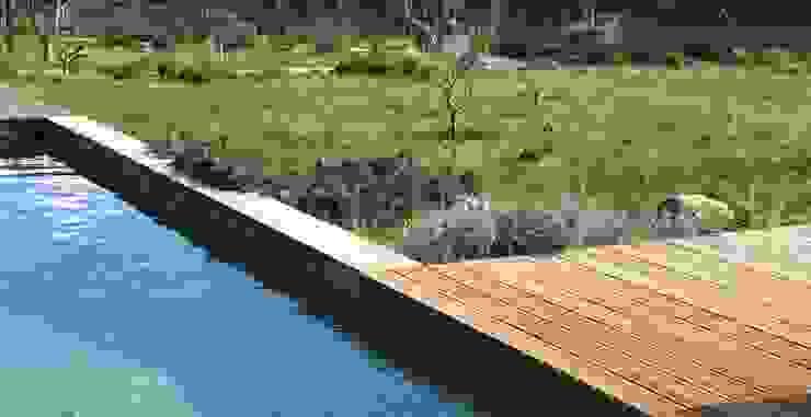 Ponto de água para os insectos Piscinas rústicas por Maria Mayer | Interior & Landscape Design Rústico