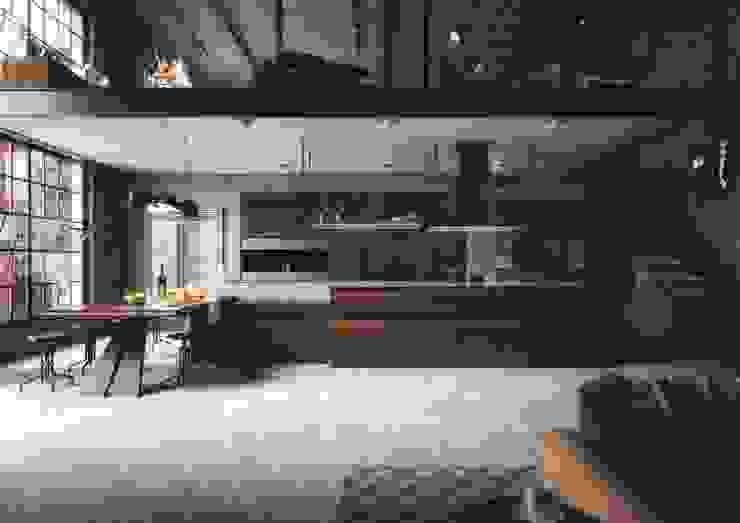 industrial  by J. Dias - Cozinhas / Banhos / Roupeiros, Industrial Wood Wood effect