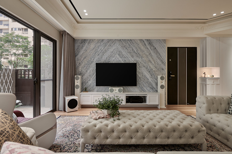 趙玲室內設計│客廳04 根據 趙玲室內設計 古典風