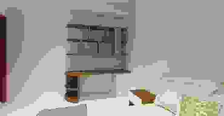 3D設計圖-4F房間: 現代  by 圓方空間設計, 現代風