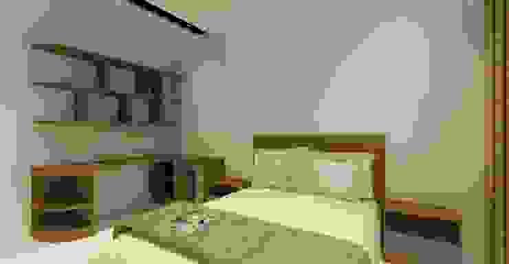 3D設計圖-4F房間(3): 現代  by 圓方空間設計, 現代風