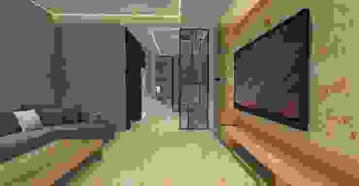 3D設計圖-客廳(2): 現代  by 圓方空間設計, 現代風