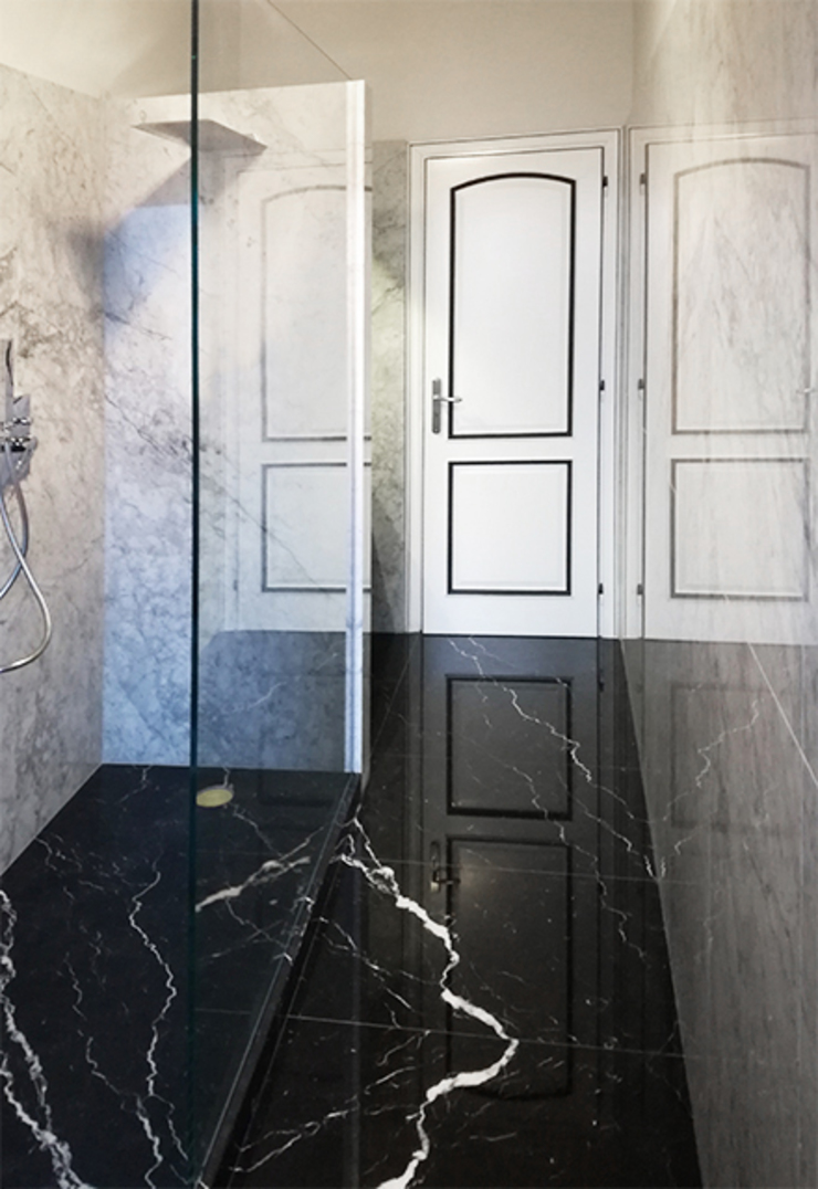 Canalmarmi e Graniti snc Baños de estilo clásico Mármol