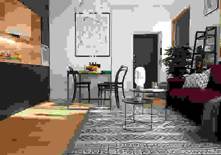 Salon original par Aya Asaulyuk Design Éclectique