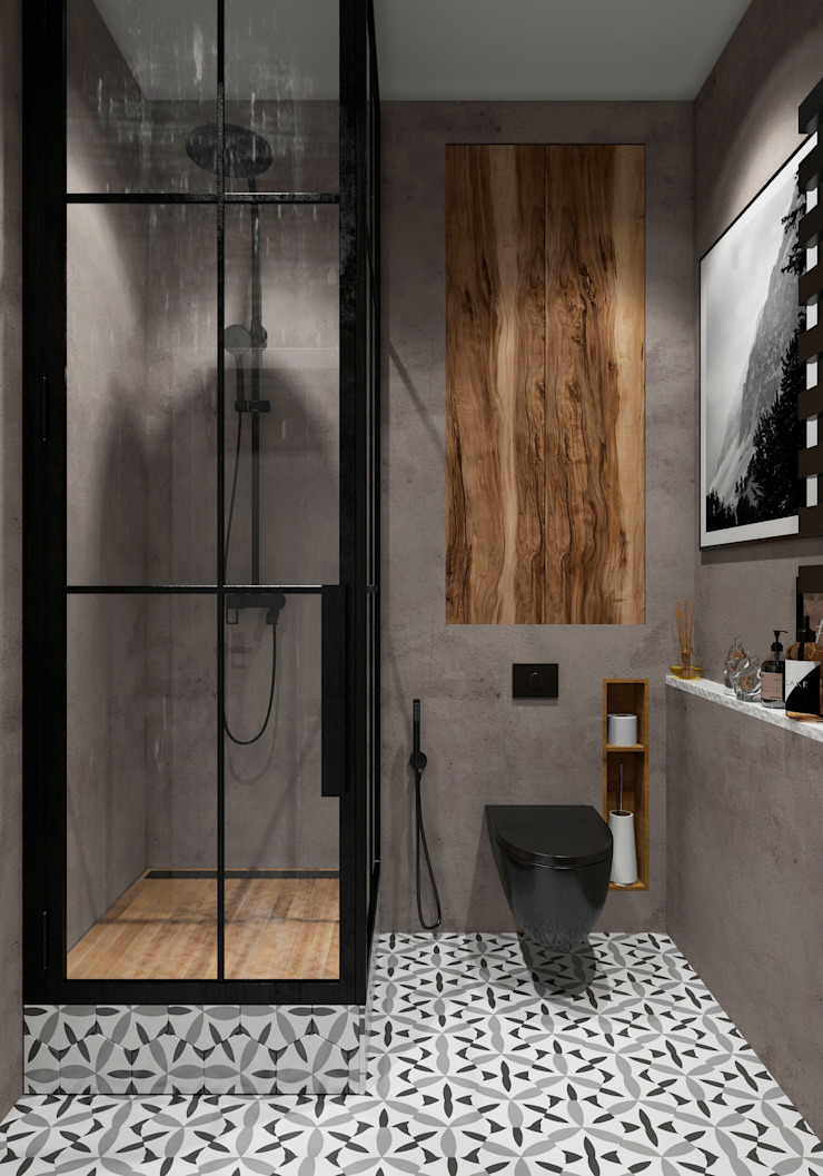 Salle de bain industrielle par Aya Asaulyuk Design Industriel