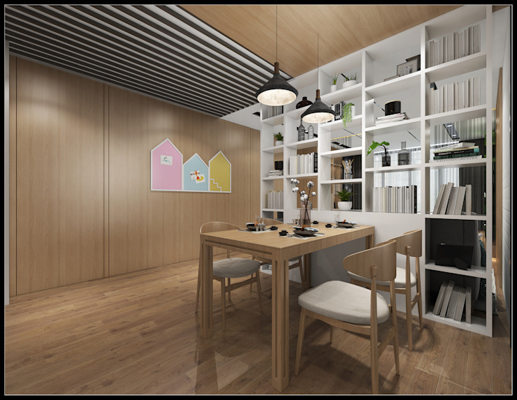 Scandinavian style dining room by 立騰空間設計 Scandinavian
