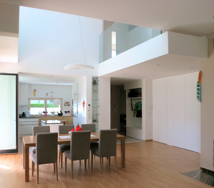 Modern Dining Room by archipur Architekten aus Wien Modern Bricks