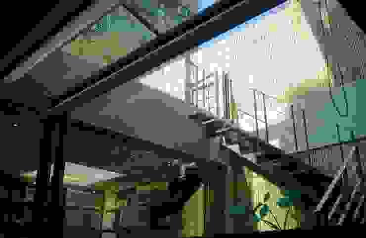 室內的階梯通往屋頂的露台: 亞洲  by 鼎爵室內裝修設計工程有限公司, 日式風、東方風