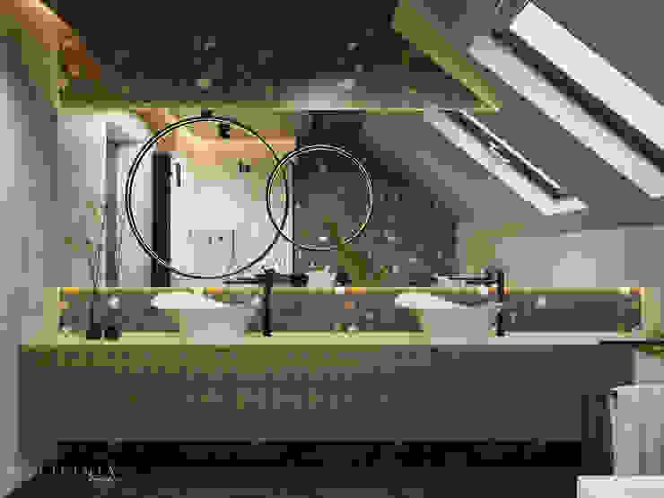 Łazienka w naturze: styl , w kategorii Łazienka zaprojektowany przez Polilinia Design,Nowoczesny