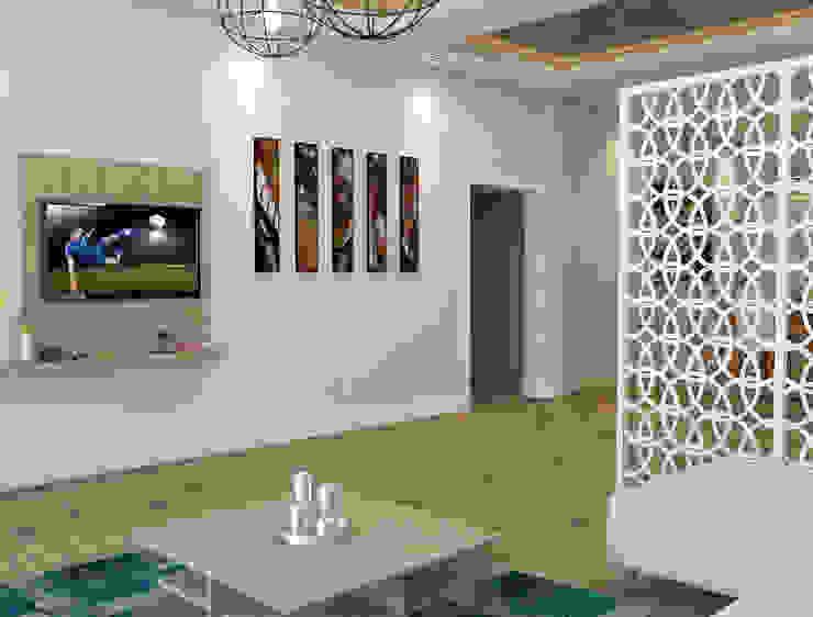 Salon - TV Ünitesi Modern Oturma Odası Kalya İç Mimarlık \ Kalya Interıor Desıgn Modern Ahşap Ahşap rengi