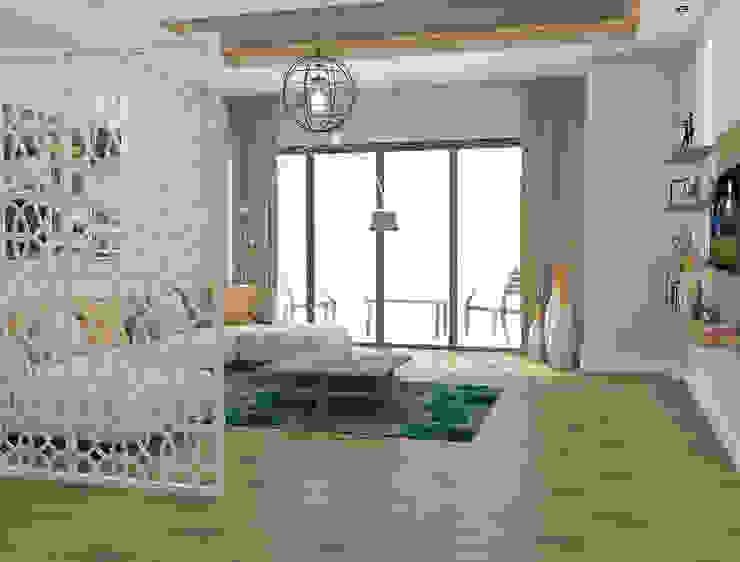Salon - Oturma Bölümü Kalya İç Mimarlık \ Kalya Interıor Desıgn Modern Oturma Odası Ahşap Ahşap rengi