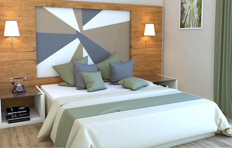 Yatak Odası Kalya İç Mimarlık \ Kalya Interıor Desıgn Modern Ahşap Ahşap rengi