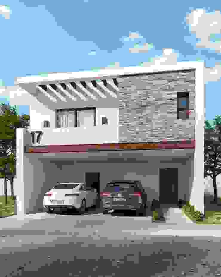 Fachada Londres Casas minimalistas de VillaSi Construcciones Minimalista