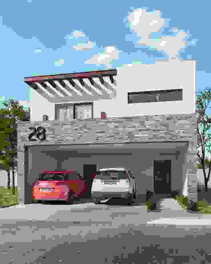 Fachada Madrid Casas minimalistas de VillaSi Construcciones Minimalista