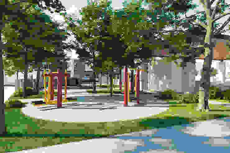 Minimalist style gym by VillaSi Construcciones Minimalist