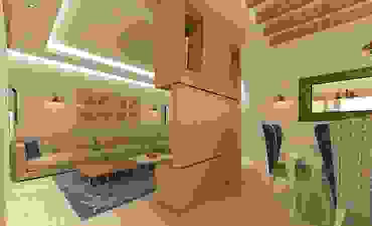 โดย KALYA İÇ MİMARLIK \ KALYA INTERIOR DESIGN ชนบทฝรั่ง ไม้ Wood effect