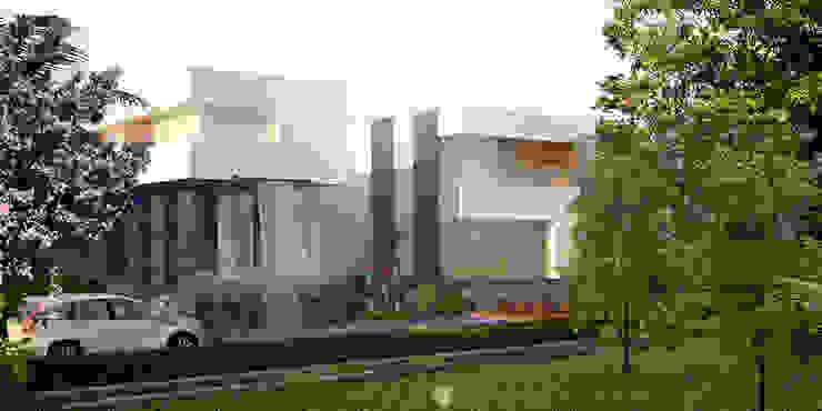 : Casas unifamiliares de estilo  por aaestudio, Moderno