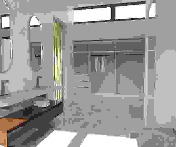 KALYA İÇ MİMARLIK \ KALYA INTERIOR DESIGN – Banyo - Giyinme:  tarz Banyo, Modern Mermer
