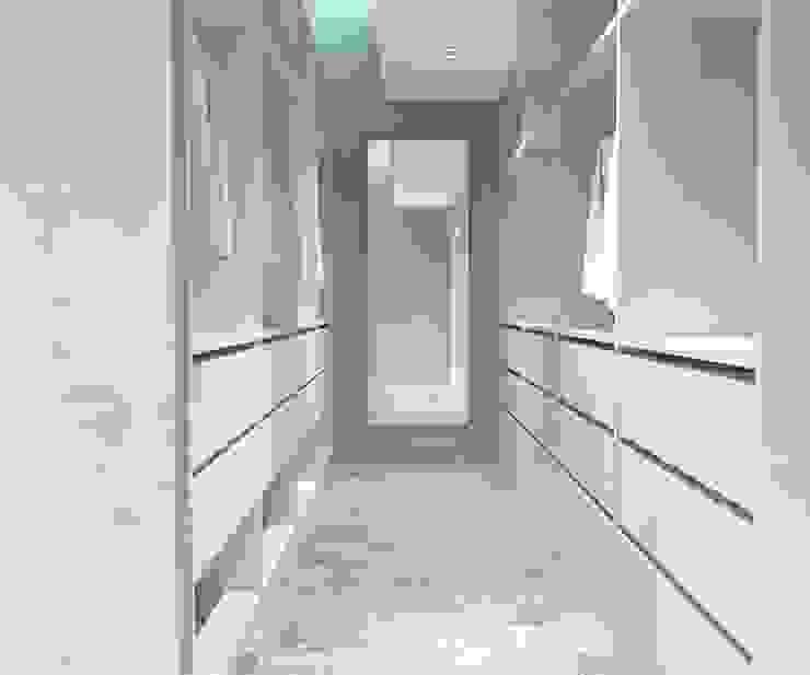 KALYA İÇ MİMARLIK \ KALYA INTERIOR DESIGN – Giyinme Bölümü:  tarz Giyinme Odası, Modern Ahşap Ahşap rengi