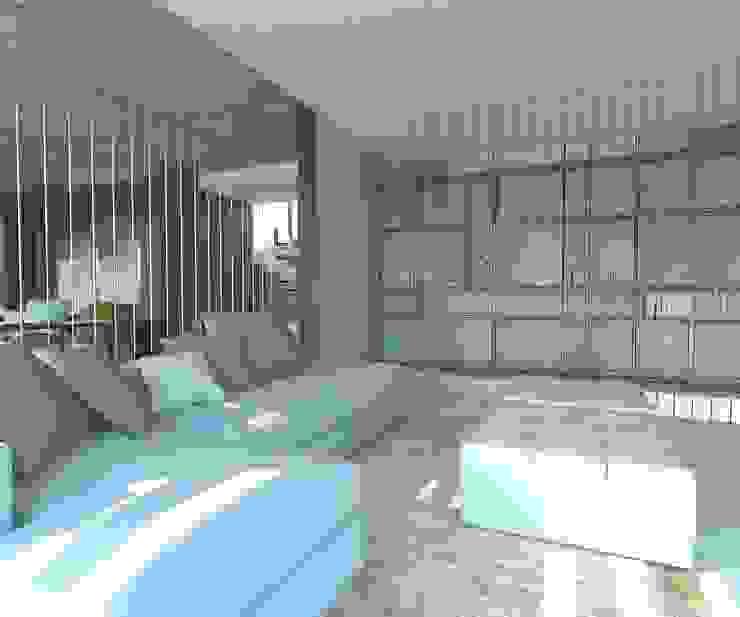 KALYA İÇ MİMARLIK \ KALYA INTERIOR DESIGN – Kitaplık:  tarz Oturma Odası, Modern Ahşap Ahşap rengi