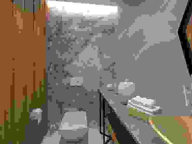 Misafr WC Modern Banyo Kalya İç Mimarlık \ Kalya Interıor Desıgn Modern Ahşap Ahşap rengi