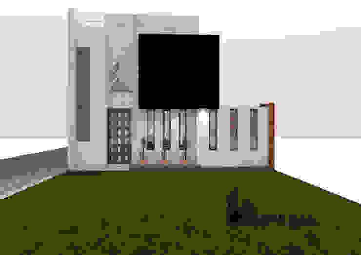 FACHADA PRINCIPAL Casas de estilo minimalista de Umbral arquitectura y construccion Minimalista