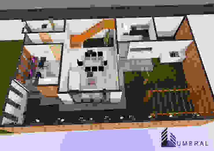ISMETRIA 1RA PLANTA Casas de estilo minimalista de Umbral arquitectura y construccion Minimalista