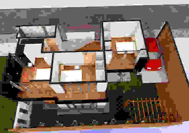 ISOMETRIA 2DA PLANTA Casas de estilo minimalista de Umbral arquitectura y construccion Minimalista