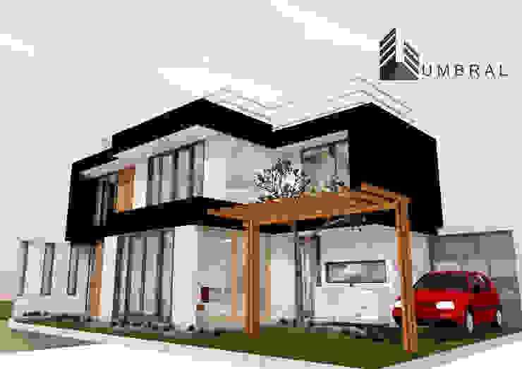 VIVIENDA MINIMA Casas de estilo minimalista de Umbral arquitectura y construccion Minimalista