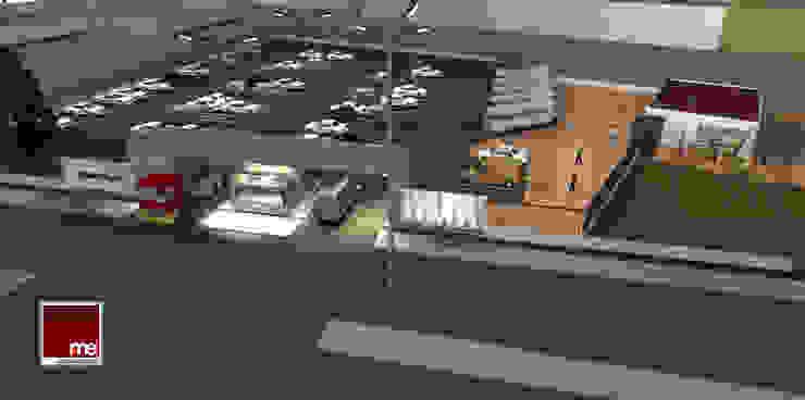 Estacionamiento para empleados y Control de accesos. grupo ME Arquitectos Garajes abiertos