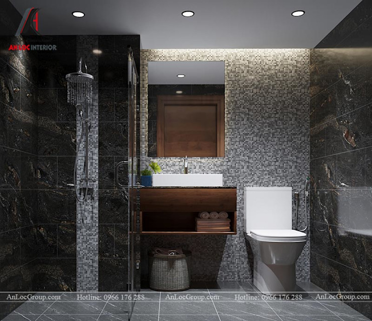Phòng tắm phong cách hiện đại bởi Nội Thất An Lộc Hiện đại
